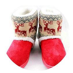 Deer Snow Boots Women Thicken Mid-Calf Winter Elk Warm Women