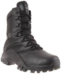 Bates Men's Delta-8 Side Zip Work Boot,Black,7 EW US