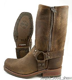 Double H DH_1601 Men's ICE Harness Boots Brown leather Motor
