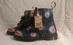 Dr Doc Martens Pascal 1460 Red White Navy Blue Rub Off Leath