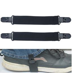 Elastic Motorcycle Biker Trouser Ends Boot Straps Clips 1xPa
