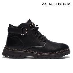 <font><b>Men's</b></font> Fashion Leather <font><b>Boots</b>