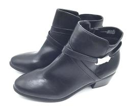 London Fog Halifax Black Smooth Leather Ankle Boot Womens Si