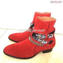 Vinapobo Handmade Chelsea <font><b>Boots</b></font> Men Poin