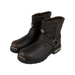 Harley-Davidson Cromwell Mens Brown Leather Motorcycle Zippe
