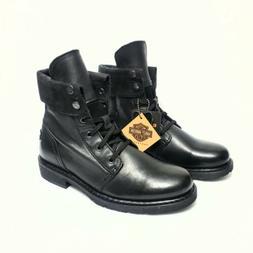 HARLEY DAVIDSON FOOTWEAR Women's Mindy Black Leather Motorcy