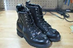 Harley Davidson Full Grain Logger Motorcycle Boots 82041 Wom