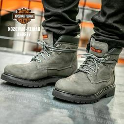 Harley-Davidson GENUINE Men's Motorcycle Boots GREY & BLACK