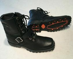 Harley Davidson Men's Black Motorcycle Biker Ankle Boots Siz