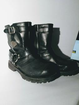 Harley-Davidson Men's Booker Engineer Boot,Black,12 M US