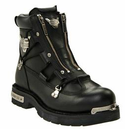 HARLEY-DAVIDSON FOOTWEAR Men's Brake Light Black Leather Mot
