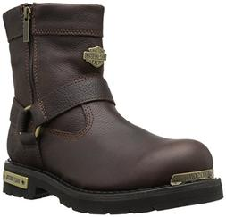 Harley-Davidson Men's Cromwell Motorcycle Boot, Brown, 10 Me