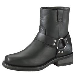 HARLEY-DAVIDSON FOOTWEAR Men's El Paso Harness Zip Black Lea