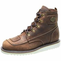 Harley Davidson Men's Hagerman Brown Motorcycle Boots D93470