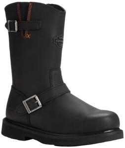Harley-Davidson Men's Jason ST Engineer Safety Boot, Black,