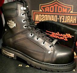 Harley-Davidson Men's Side Zip Safety Toe EH Motorcycle Boot