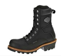 Harley-Davidson® Men's Tyson Logger Black Leather Motorcycl