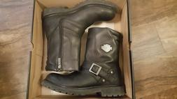 """Harley-Davidson Mens 8.25"""" Booker Leather Motorcycle Boots D"""