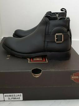 Harley-Davidson Mens Black Leather Chelsea Motorcycle Boots