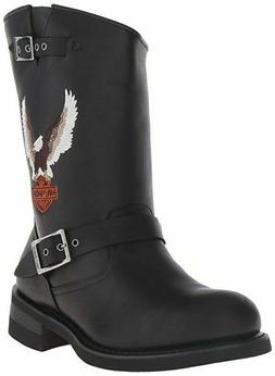 Harley-Davidson Motorcycle Boots Jerry Engineer Black Riding