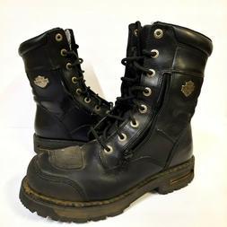 "Harley-Davidson Riddick 8"" Lace Black Mens 8.5 M Leather Mot"