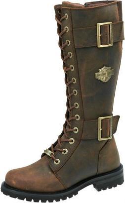 HARLEY-DAVIDSON FOOTWEAR Women's Belhaven Brown Tall Leather