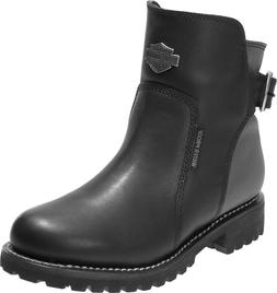 Harley-Davidson® Women's Cinder Waterproof Black Leather Mo