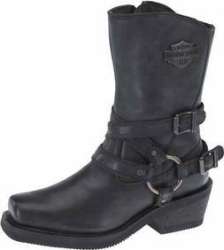 "Harley-Davidson Women's Ingleside 8.5"" Motorcycle Boots. Bla"