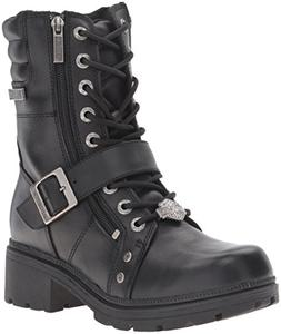 Harley-Davidson Women's Talley Ridge Motorcycle Boot, Black,