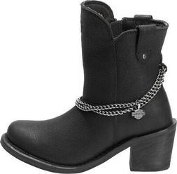 HARLEY-DAVIDSON FOOTWEAR Women's Vanette 7-Inch Black Leathe