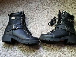 Harley Davidson Womens Motorcycle Boots 85280 Size 6 Black L