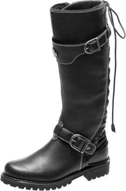 HD Women's Lenehan Black Leather Motorcycle Boots **D84017**