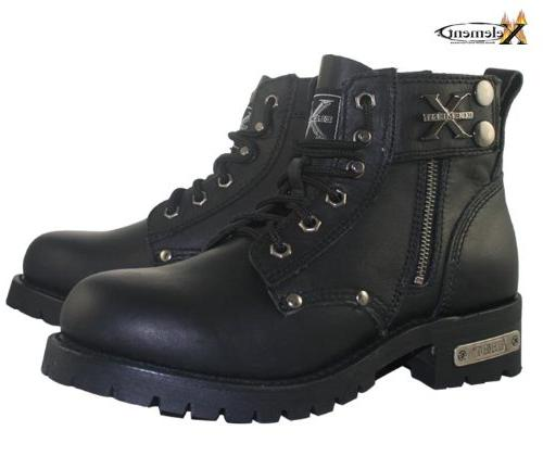Xelement Mens Advanced Lace Up Motorcycle Boots
