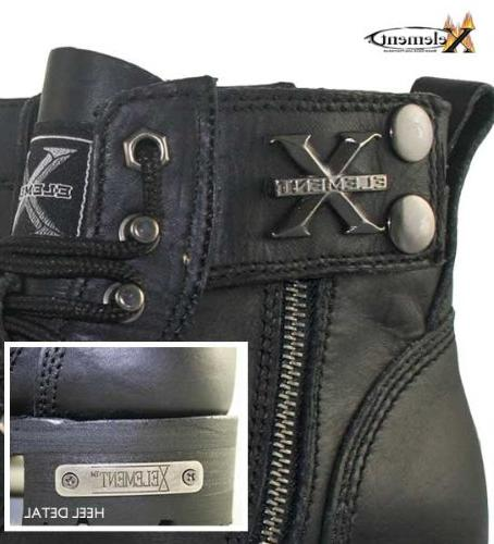 Xelement 1505 Mens Advanced Lace Motorcycle Boots 12