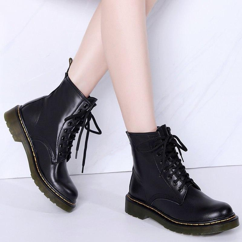 2019 <font><b>Boots</b></font> Women Leather <font><b>Boots</b></font> Shoes Spring Mujer