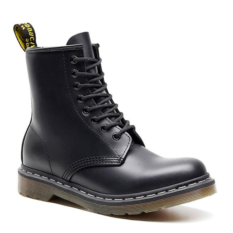 2019 For Martin Male Shoes Adult Dr Motocycle <font><b>Boots</b></font> Warm Ankle Winter Shoes Men Shoes Plus Size