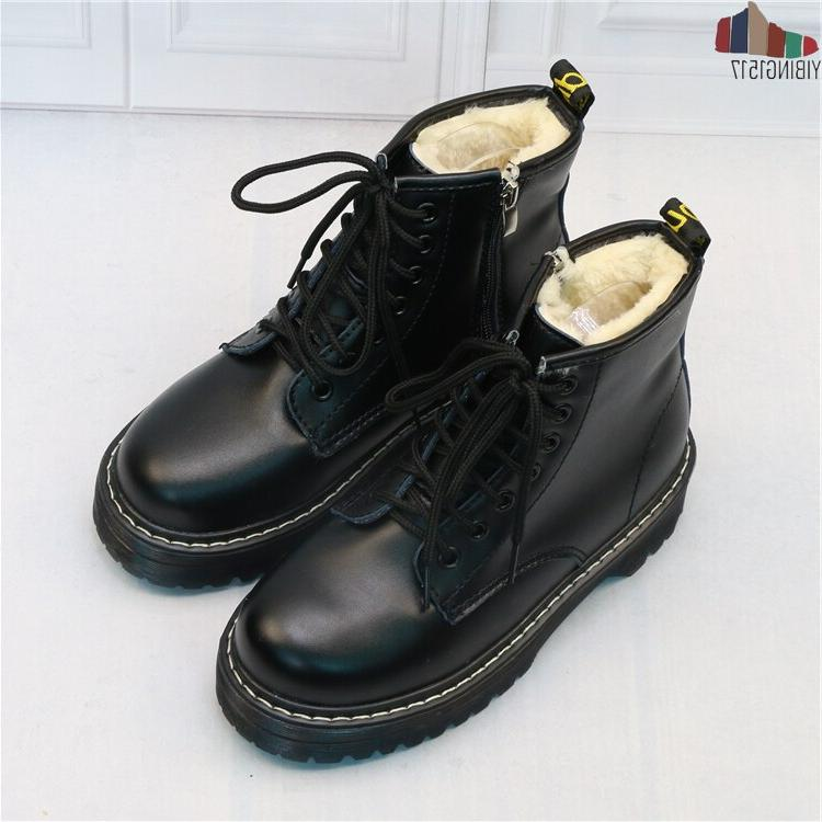 2019 Women Martin Shoes Zippers, Winter Warm Women Ankle <font><b>Boots</b></font> Leather Botas