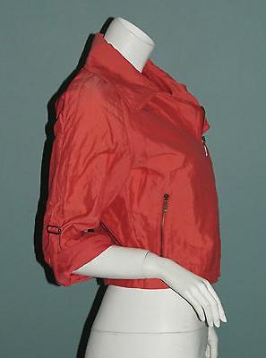 CAbi Cropped Jacket XS Asymmetric Zip