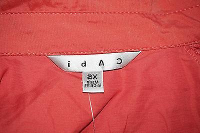 CAbi #913 Cropped Jacket Salmon Asymmetric Brand New!