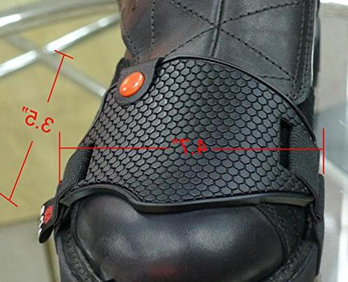 A.B Soft Anti-lost Motorcycle Shoe Shifter Scuff Non Slip Stronger Heel Strap