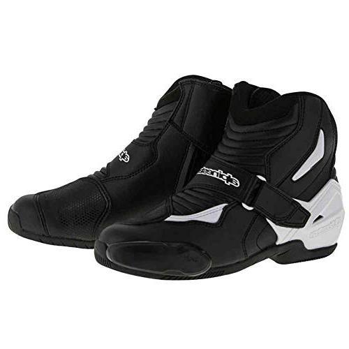Alpinestars SMX-1R Mens Motorcycle Boots - Black/White - 42