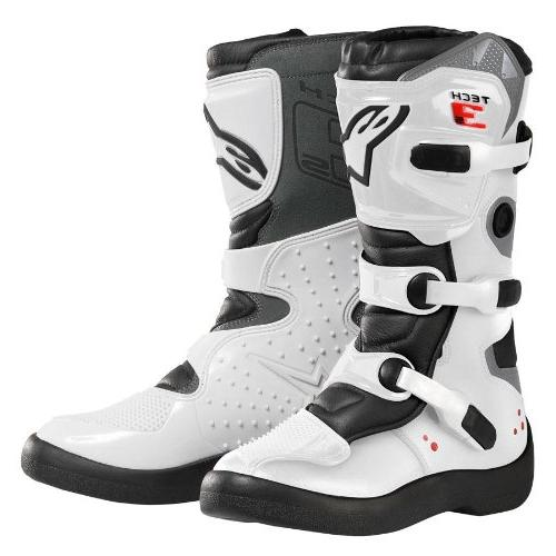 Alpinestars Tech 3S Boy's Off-Road Motorcycle Boots - White/