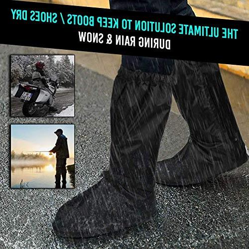 Anti-Slip Waterproof Boot Covers Shoes Boots Men 7-8 Women 8.5-9.5 Zipper Outdoor Camping -