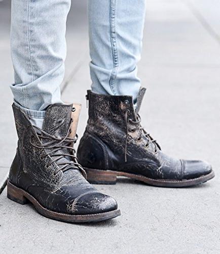 Bed|Stu Men's Protege Boot Black Lux)