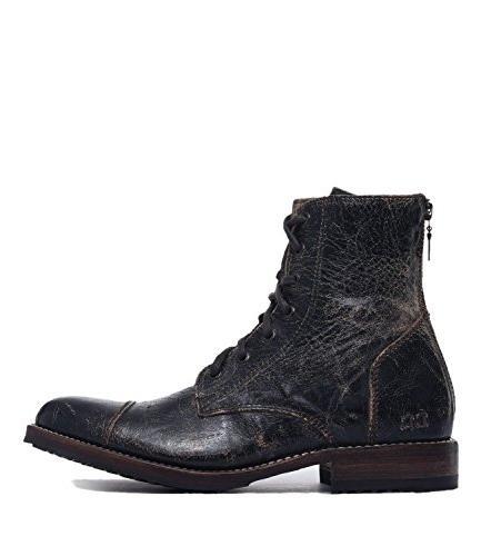 Bed|Stu Men's Protege Combat Boot  US, Black Lux)
