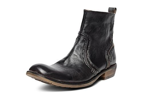 Bed|Stu Men's Revolution Leather Boot  US, Black Rustic)