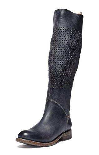 Bed|Stu Women's Cambridge Motorcycle Boot, Black Driftwood,