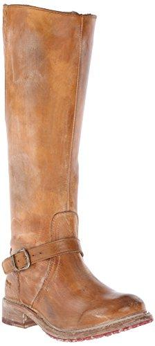 Bed|Stu Women's Glaye Motorcycle Boot, Tan Rustic/White, 10
