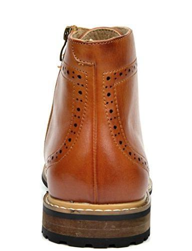 Bruno Men's Bergen-01 Brown Lined Dress Ankle Boots 8