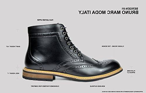 Bruno Men's Bergen-01 Brown Oxfords Dress Boots 8